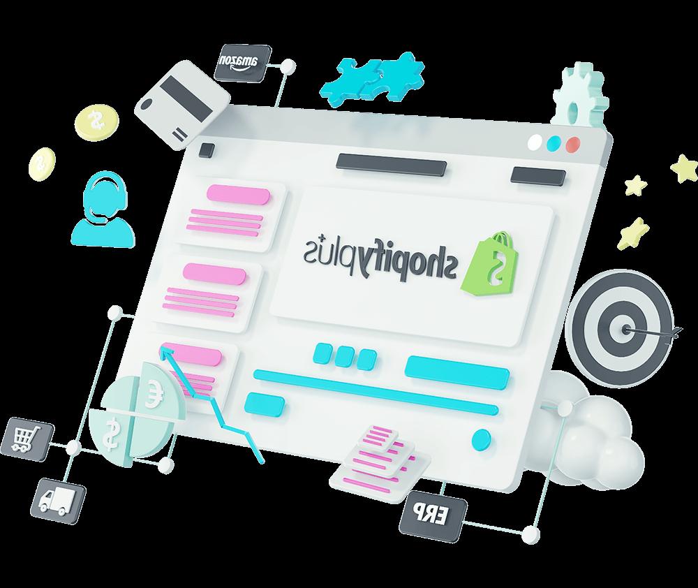 Shopify-3d-illustration